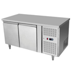 TWO DOORS STAINLESS STEEL UNDERCOUNTER CHILLER/FREEZER
