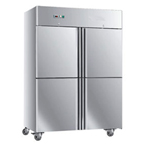 FOUR DOORS STAINLESS STEEL CHILLER/FREEZER