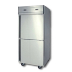 TWO DOORS STAINLESS STEEL UPRIGHT CHILLER/FREEZER