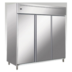 THREE DOORS STAINLESS STEEL CHILLER/FREEZER