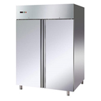 TWO DOORS STAINLESS STEEL CHILLER/FREEZER