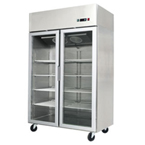 TWO GLASS DOOR CHILLER/FREEZER